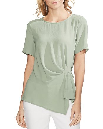 VINCE CAMUTO - Short-Sleeve Side-Pleat Top