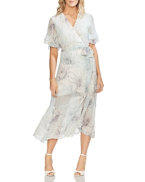 Vince Camuto Dresses BLOSSOMS MIDI WRAP DRESS