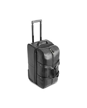 ROYCE New York - Leather Rolling Duffel Bag Luggage