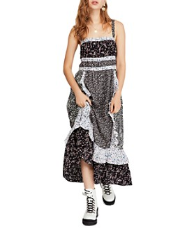 Free People - Yesica Mixed Floral Maxi Dress