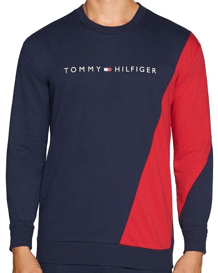 Tommy Hilfiger Long Sleeve Colorblocked Button Shoulder