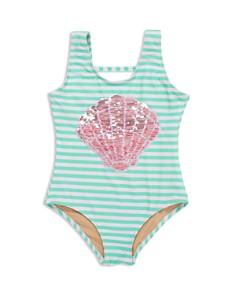 Shade Critters - Girls' Flip Sequin-Shell One-Piece Swimsuit - Little Kid
