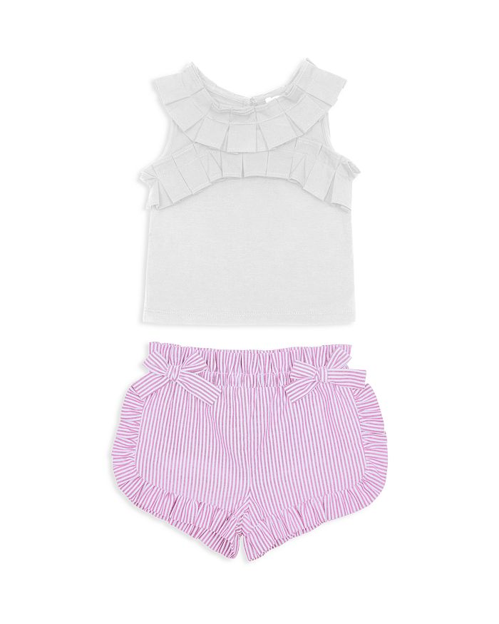 Habitual Kids - Girls' Hazel Pleated Top & Ruffled Shorts Set - Little Kid