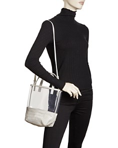 Alice.D - Small Clear & Leather Tote