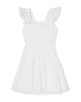 Ralph Lauren - Girls' Windowpane Cotton Dress - Big Kid