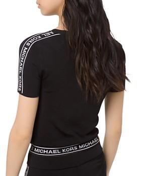 MICHAEL Michael Kors - Logo Sleeve Cropped Tee