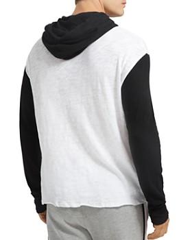 ATM Anthony Thomas Melillo - Hooded Slub-Knit Color-Block Sweatshirt