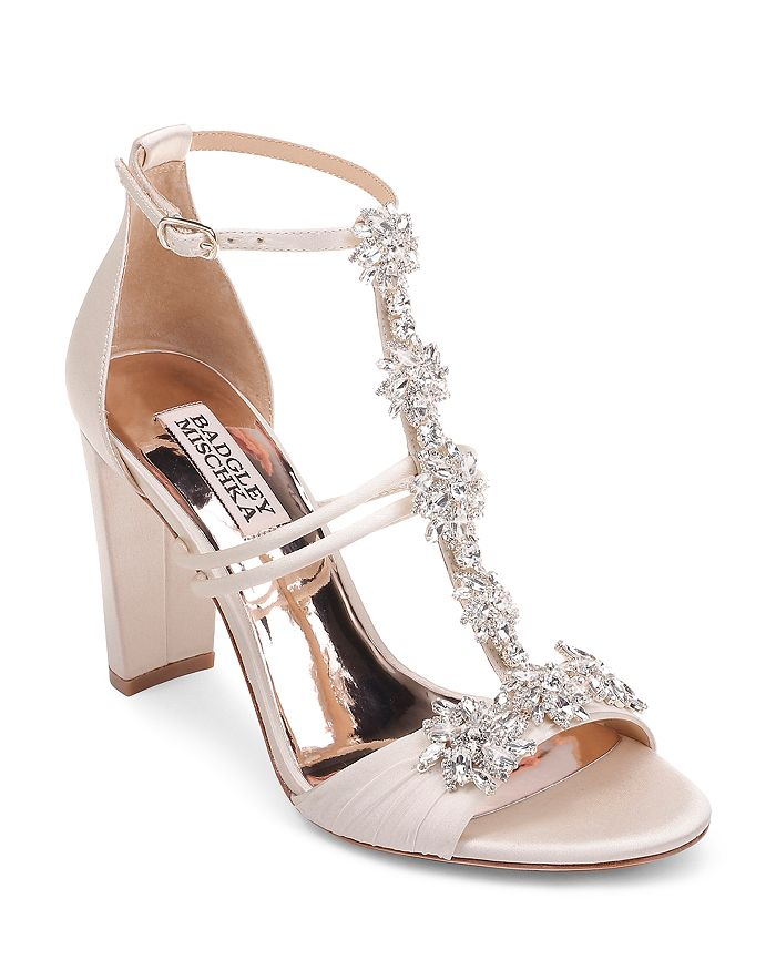 bf4261baace Badgley Mischka Women s Laney Embellished T-Strap Sandals ...