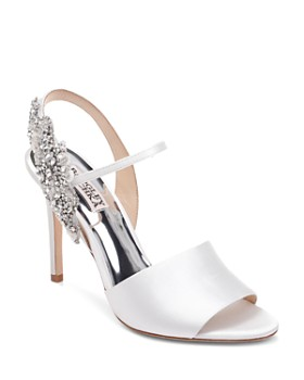 6abf16955d2e Badgley Mischka - Women s Lidia Embellished High-Heel Slingback Sandals ...