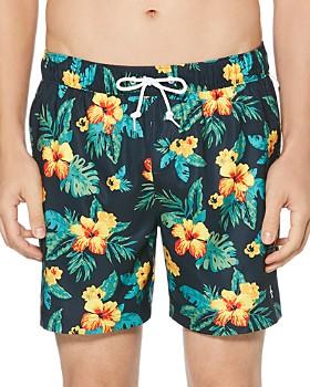63e65141 Original Penguin - Floral-Print Swim Shorts ...