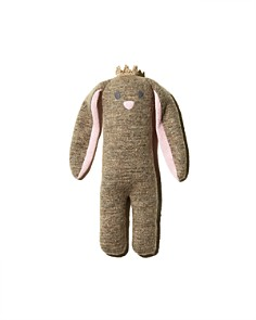 Albetta - Small Soft-Knit Bunny with Crown - Ages 0+