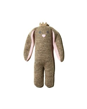 Albetta Small Soft-Knit Bunny with Crown - Ages 0+