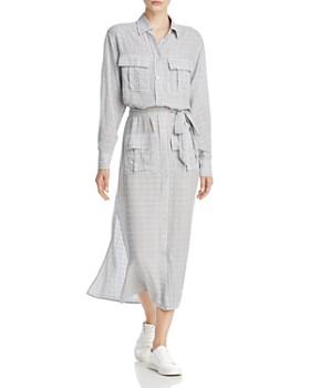 Current/Elliott - The Ana Crosshatch Maxi Shirt Dress