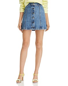 rag & bone/JEAN - Rosie Button-Front Denim Mini Skirt