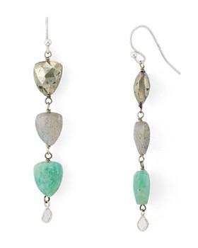 Chan Luu - Champagne Diamond Slice Drop Earrings in 24K Gold-Plated Sterling Silver or Sterling Silver