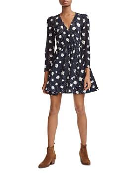 5eb1fedf839 Maje - Rayom Daisy Print Eyelet Dress ...