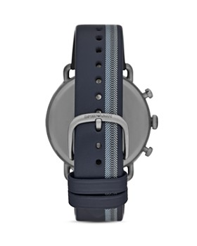 Armani -  Chronograph Blue Leather Watch, 43mm