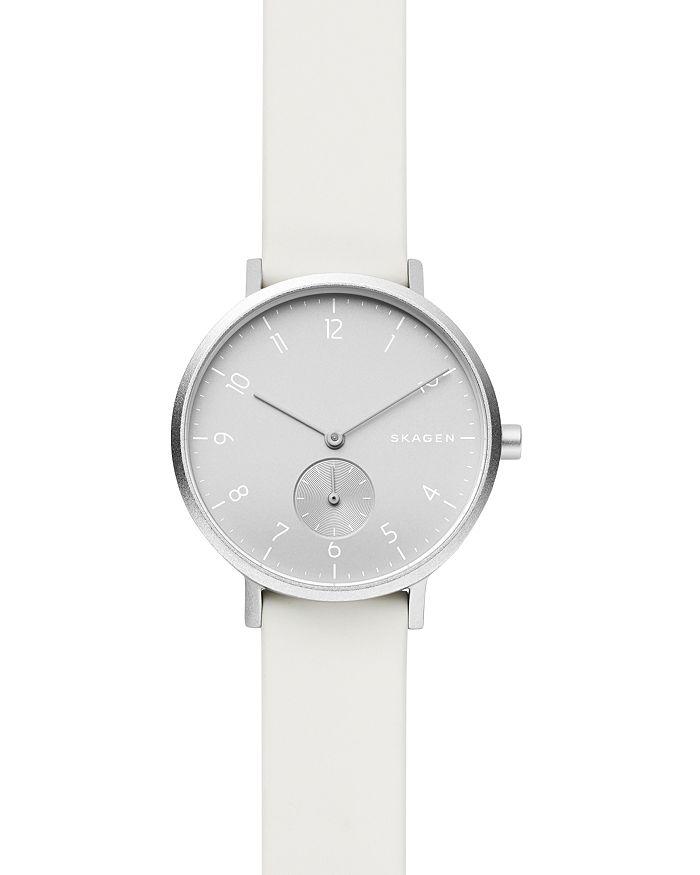 Skagen - Aaren Kulør White Silicone Strap Watch, 36mm