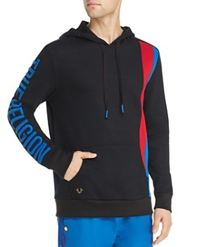 True Religion - Stripe-Accented Hooded Sweatshirt