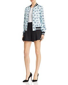 Alice and Olivia - Lonnie Reversible Printed Bomber Jacket