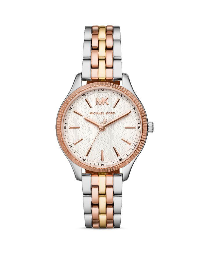 Michael Kors - Lexington Tri-Tone Link Bracelet Watch, 36mm