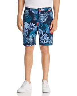 Scotch & Soda - Tropical-Print Regular Fit Chino Shorts