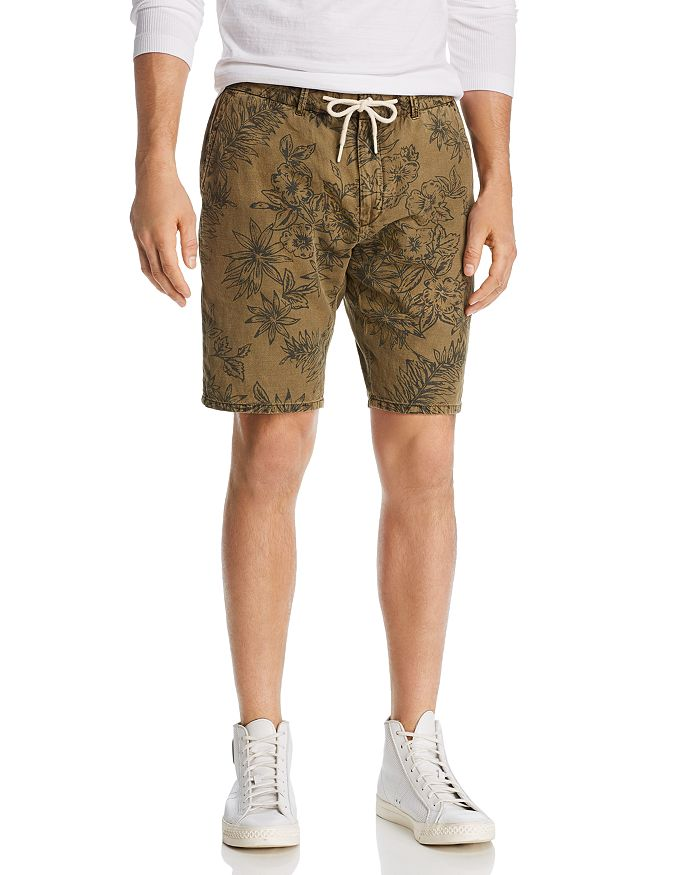 Scotch & Soda - Floral-Print Relaxed Fit Drawstring Shorts