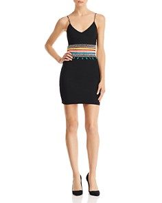 Alice and Olivia - Loralee Embroidered Cutout Dress