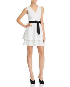 AQUA - Tiered Crossover Dress - 100% Exclusive