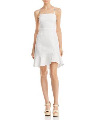 Flounce Hem Slip Dress   100 Percents Exclusive by Aqua