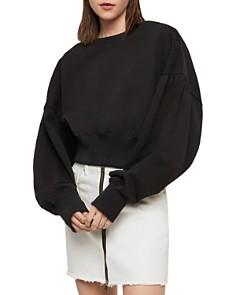 ALLSAINTS - Storn Balloon-Sleeve Cropped Sweatshirt