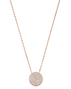 Bloomingdale's - Pavé Diamond Medallian Necklace in 14K Rose Gold, 1.50 ct. t.w. - 100% Exclusive