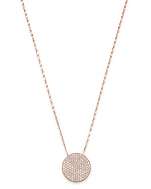 Bloomingdale's Pave Diamond Medallian Necklace in 14K Rose Gold, 1.50 ct. t.w. - 100% Exclusive