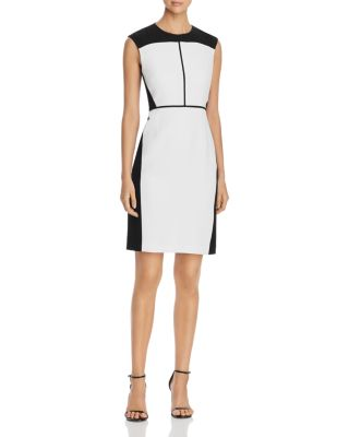 Lottie Sleeveless Color Block Sheath Dress by Elie Tahari