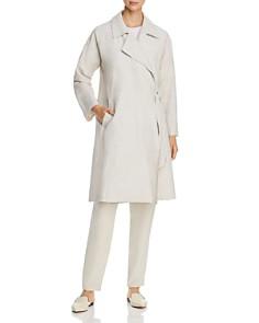 Eileen Fisher - Side-Tie Organic Linen Trench Coat - 100% Exclusive