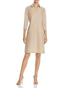 Lafayette 148 New York - Zac Contrast-Sleeve Shift Dress
