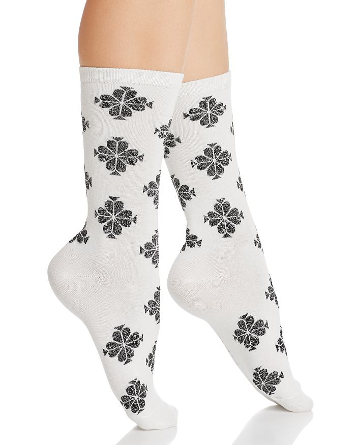kate spade new york - Shimmer Flower Crew Socks