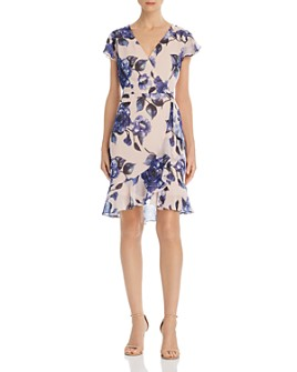 Adrianna Papell - Geranium Faux-Wrap Dress