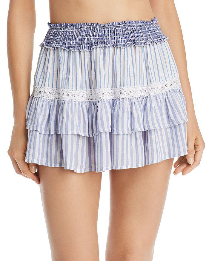 2fa004d5ea Surf Gypsy - Striped Combo Mini Skirt Swim Cover-Up