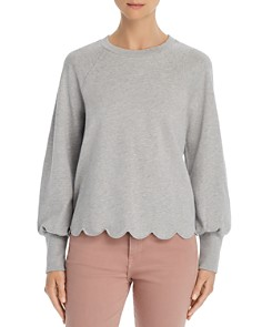 FRAME - Scalloped Sweatshirt - 100% Exclusive