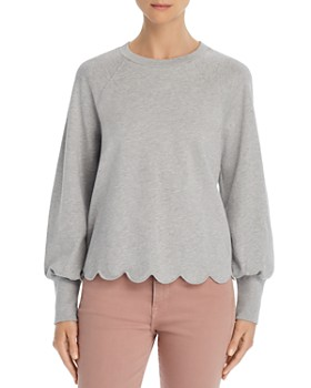c990a4138fb3d FRAME - Scalloped Sweatshirt - 100% Exclusive ...