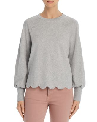 Scalloped Sweatshirt   100 Percents Exclusive by Frame