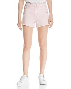 DL1961 - Cleo High Rise Denim Shorts in Acid Pink