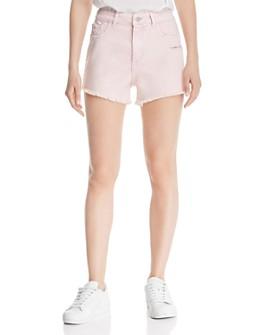 DL1961 - Cleo High Rise Denim Shorts in Acid Pink