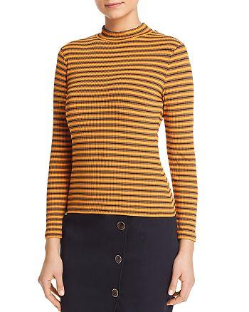 KAREN MILLEN - Striped Rib-Knit Top- 100% Exclusive