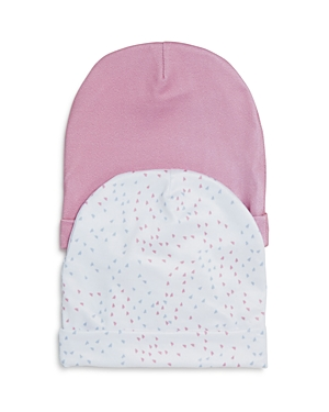 Aden and Anais Girls' 2-Piece Mini-Hearts Beanie Hat Set - Baby