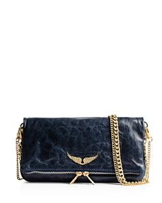 Zadig & Voltaire - Rock Crush Distressed Leather Clutch