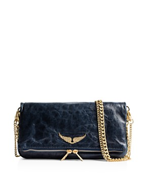 dc56be7f593 Zadig & Voltaire - Rock Crush Distressed Leather Clutch ...