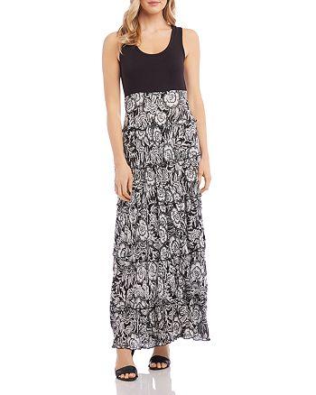 Karen Kane - Topanga Tiered-Floral Maxi Dress