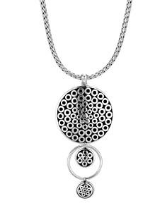 "JOHN HARDY - 18K Yellow Gold & Sterling Silver Dot Drop Pendant Necklace, 16"""